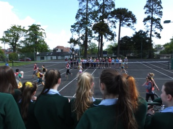 6th year Vs Staff annual netball match